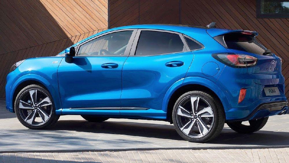 Ford Puma hybrid st line blu