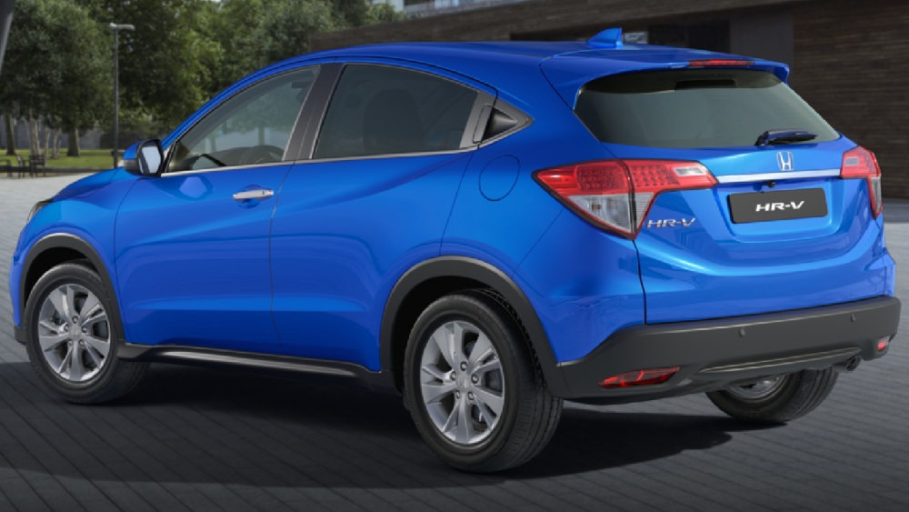 Honda HR V blu lato posteriore
