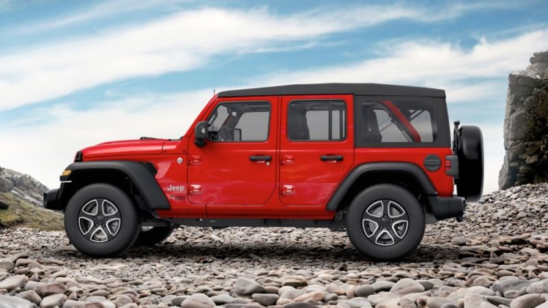 Jeep Wrangler Unlimited sport fianco