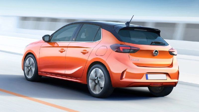 Opel Corsa e elettrica orange