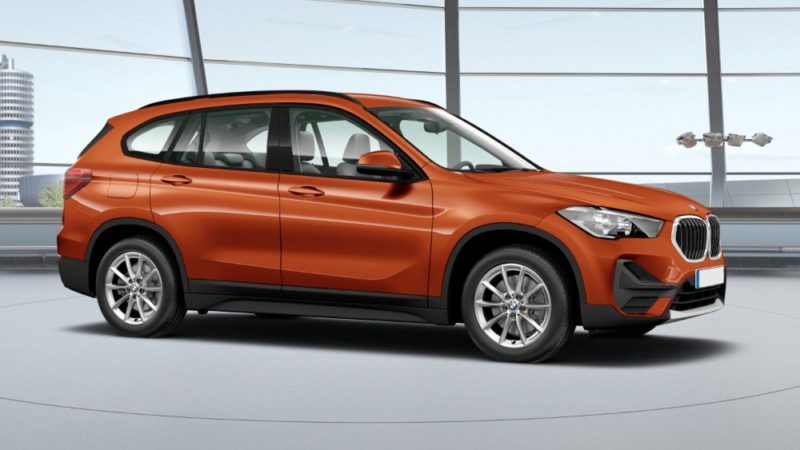 BMW X1 xDrive 20d fianco orange